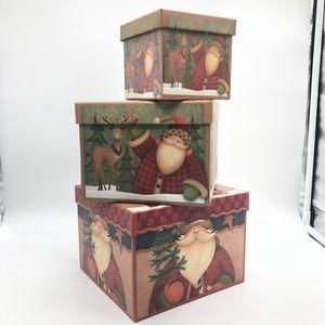 Christmas Decor/Gift Boxs  Set of 3